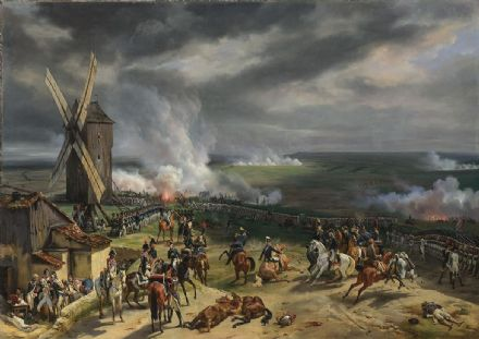 Vernet, Emile Jean Horace: The Battle of Valmy. French Napoleonic War Fine Art Print.  (003478)